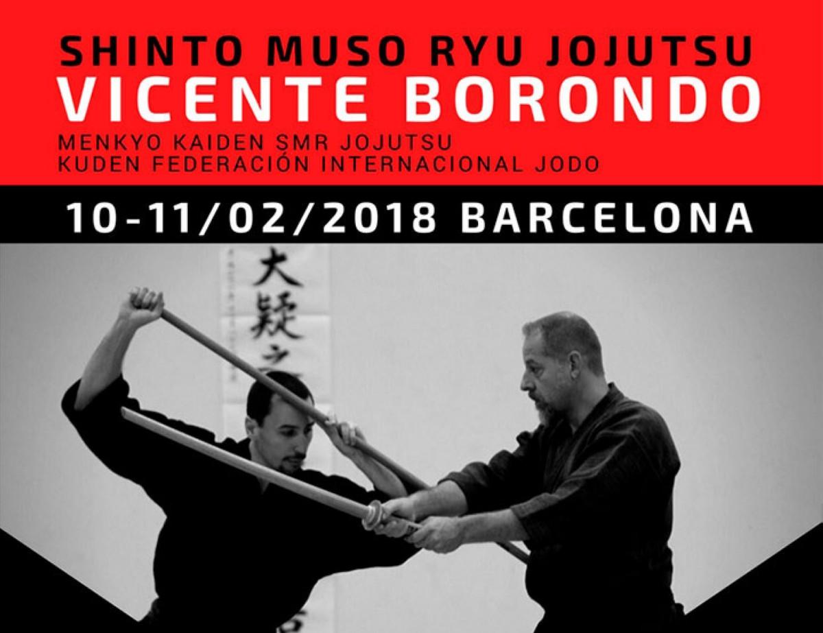 Shito Muso Ryu JoJutsu con Vicente Borondo en Barcelona