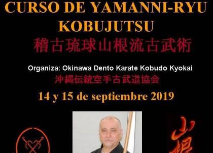 Curso de Yamanni-Ryu Kobujutsu en Bacelona