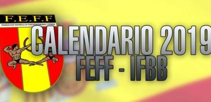 El calendario provisional de FEFF-IFBB