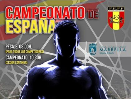 El pesaje del Campeonato de España Absoluto FEFF-IFBB también el viernes