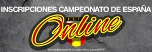 Inscripción a los Campeonatos de España 2017
