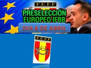 Preselección Campeonatos de Europa IFBB 2018