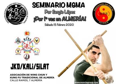 Seminario Almería: Jeet Kune Do, Kali Flipino y Silat