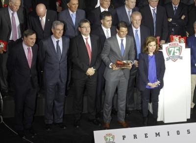 Rafa Nadal recibe el premio La Leyenda: 75 años de MARCA