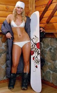 Gretchen Bleiler derrite la nieve