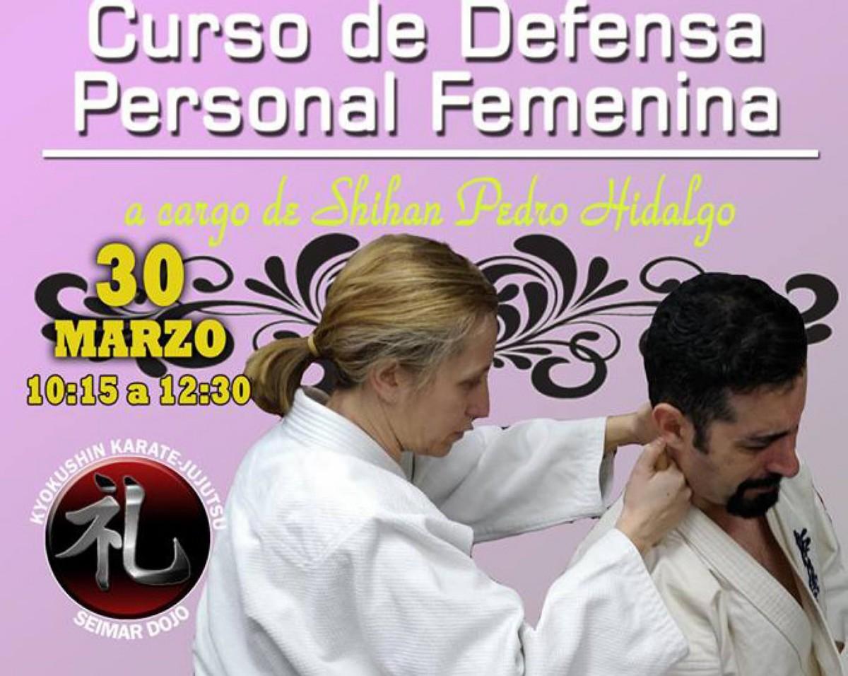 Curso de defensa personal femenina con Shihan Pedro Hidalgo