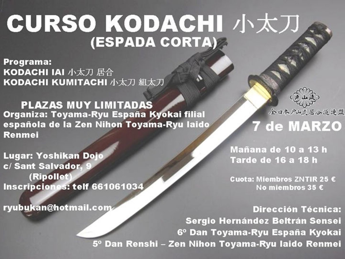 Curso de Kodachi (espada corta)