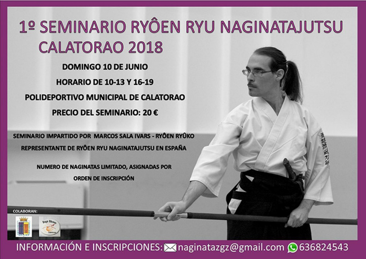 Curso de Naginatajutsu en Calatorao (Zaragoza)