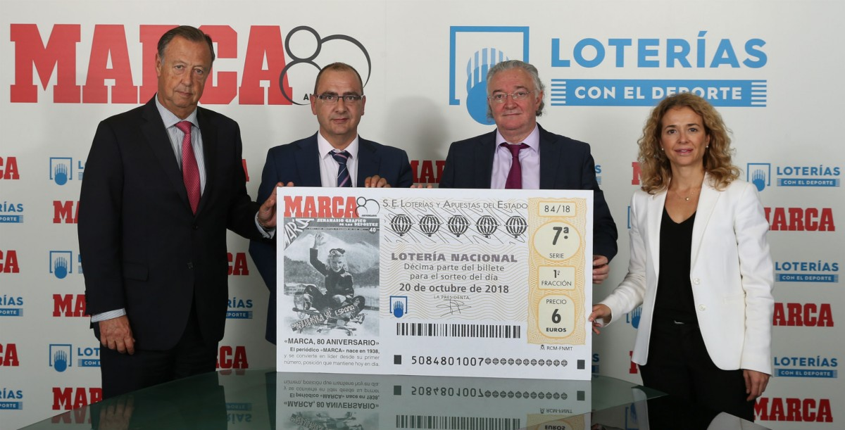 El 80 aniversario de MARCA protagoniza el décimo de Lotería Nacional