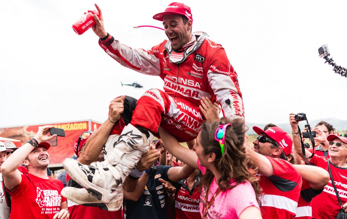 Gerard Farrés se despide del Dakar quinto en motos