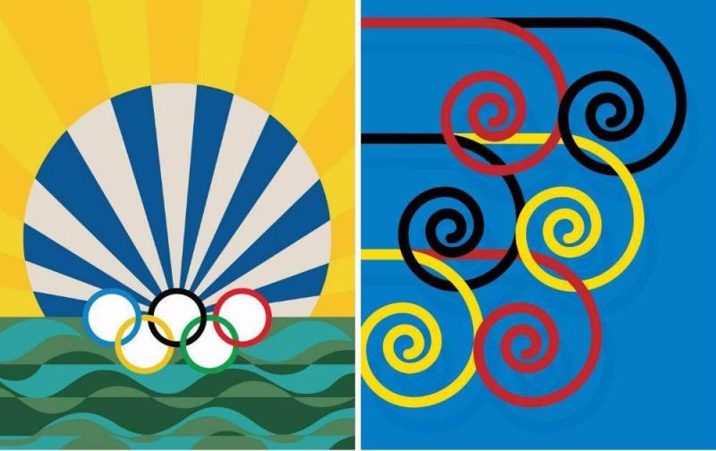 Los posters oficiales de los Juegos Olímpicos