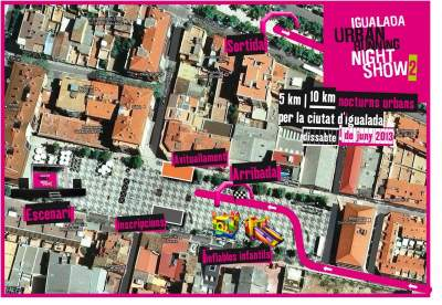 Cuenta atrs para la Igualada Urban Running Night Show 