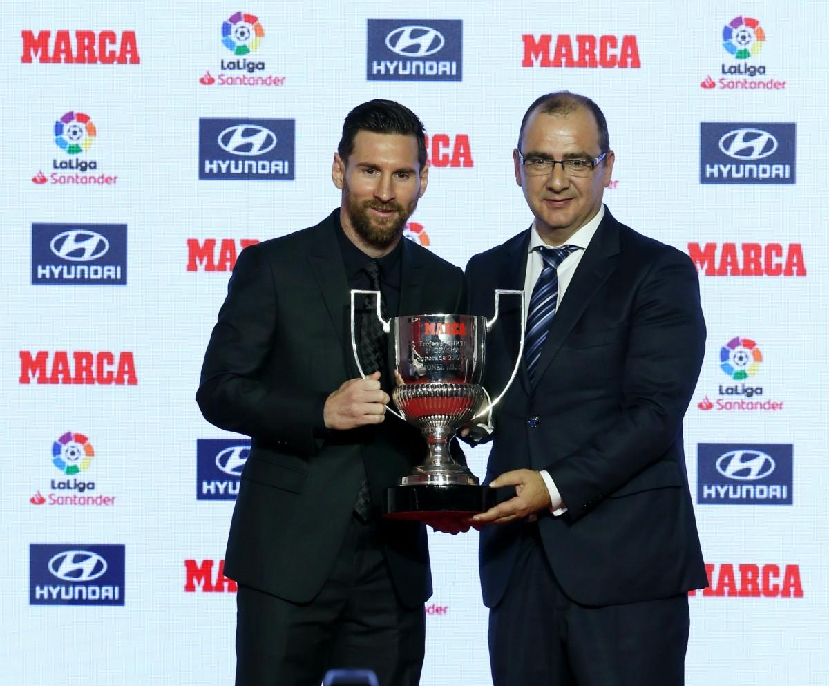 MARCA entrega a Leo Messi su quinto Pichichi