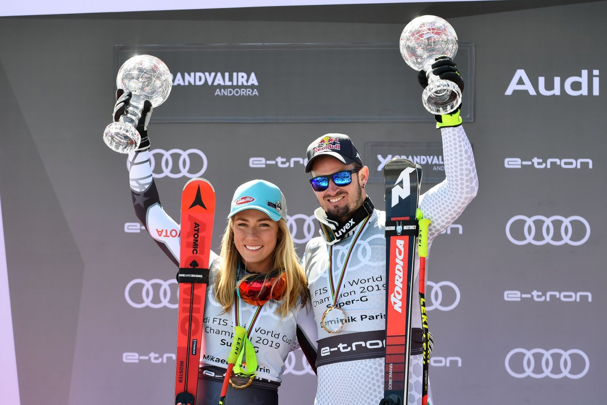 Mikaela Shiffrin y Dominik Paris ganan La Supergigante de Andorra