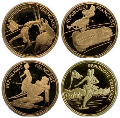 Rarezas numismáticas brillan en una colección de monedas olímpicas