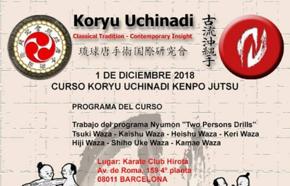 Curso Koryu Uchinadi en Barcelona