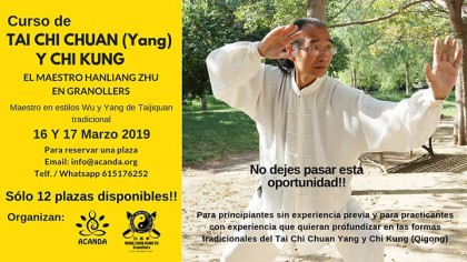 Curso de Tai Chi Chuan / Chi Kung en Granollers por Hanliang Zhu