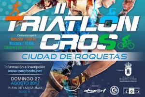 El II Triatlón Cros Ciudad de Roquetas en agosto