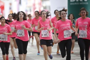 Lista de espera para la Carrera de la mujer Barcelona