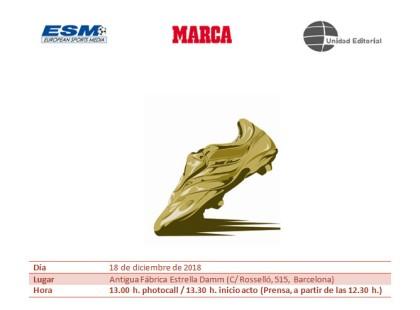 Messi recibe su quinta Bota de Oro