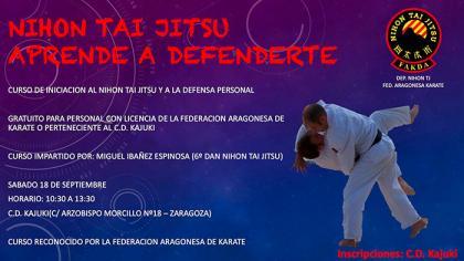 Nihon Tai Jitsu y defensa personal, curso de iniciación