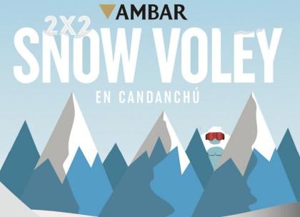 Una nueva edición del Open Snow Voley Ambar en Candanchú