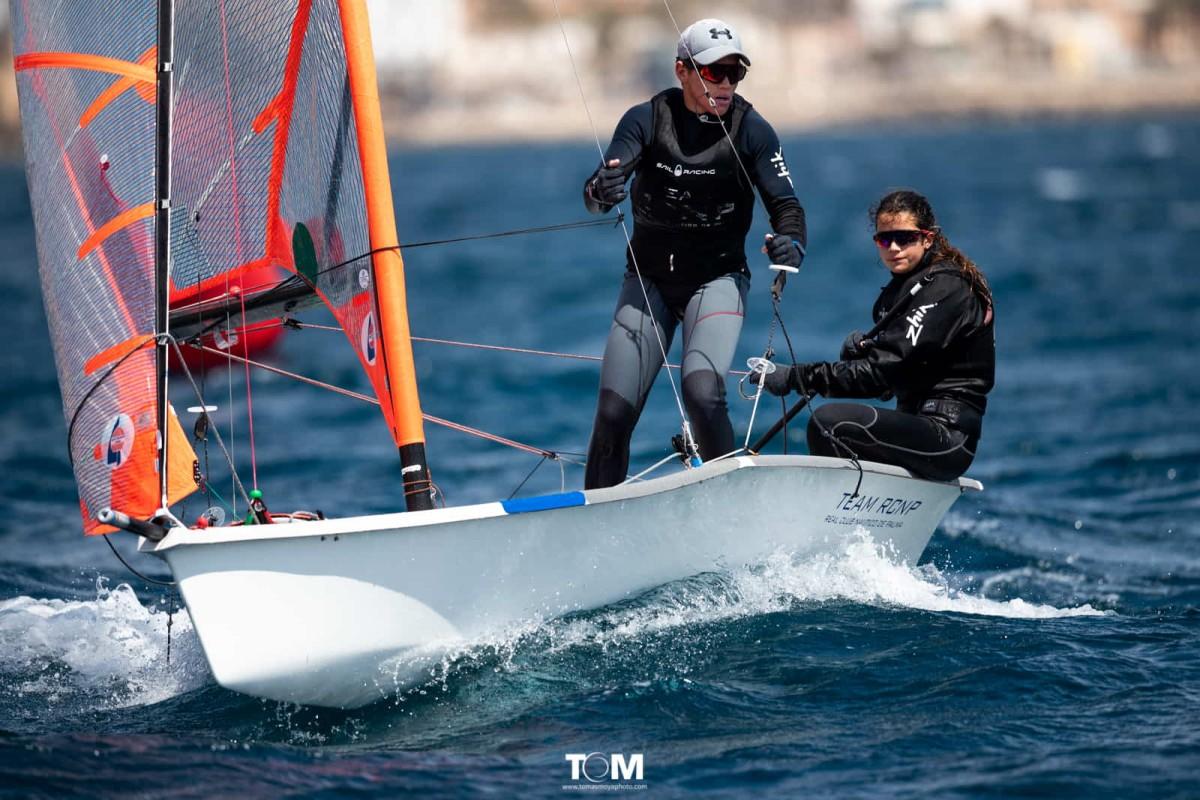 Campeones de Baleares de 29er en la bahia de Palma