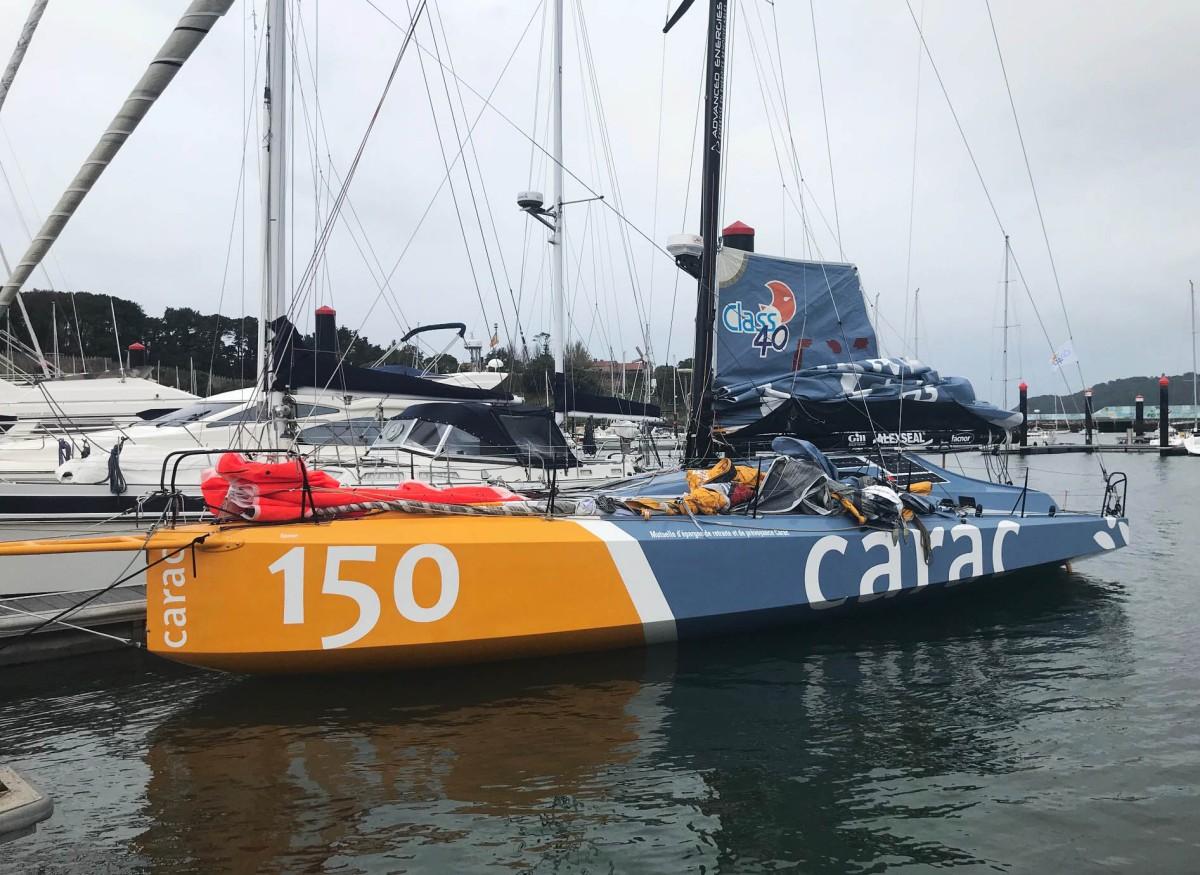 Cuatro barcos de la Ruta del Ron se refugian en Baiona
