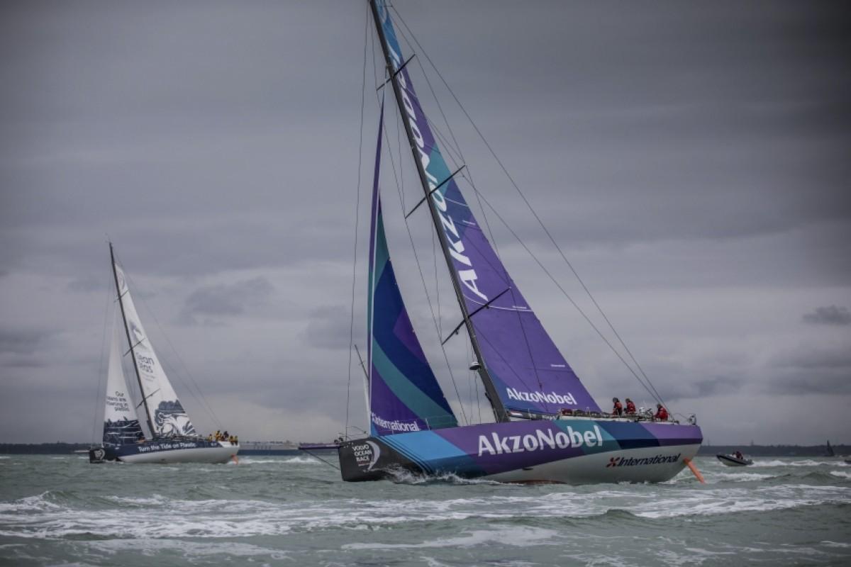 El AkzoNobel en el barco más rápido de la Volvo Ocean Race