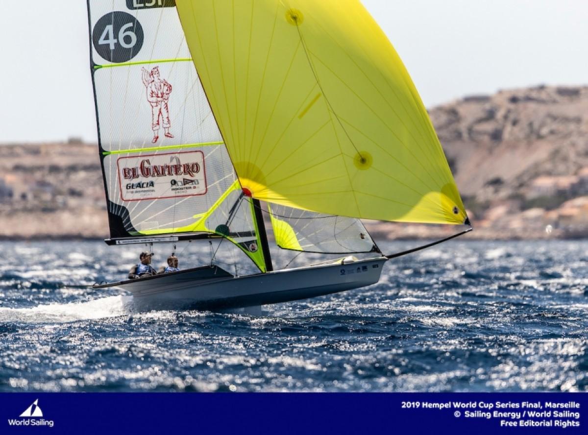 El fuerte viento condiciona la segunda jornada en Marsella