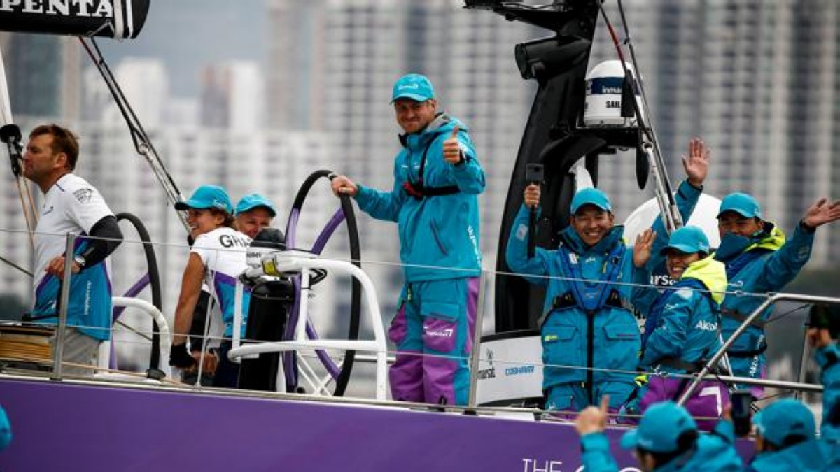 El team AkzoNobel gana la HGC In-Port Race Hong Kong