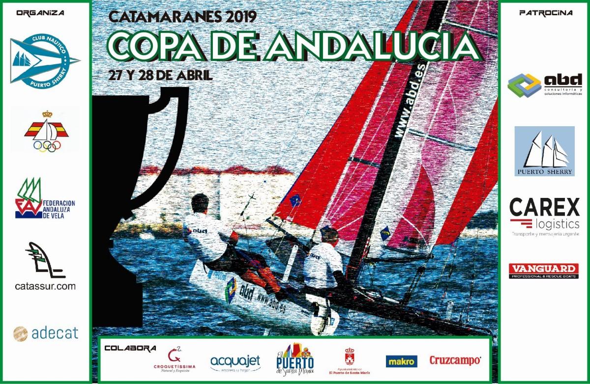 La Copa de Andalucía de Catamarán condicionada por el viento
