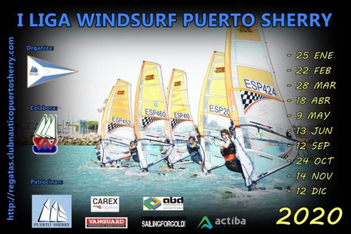 La Liga de Windsurf celebra su segundo asalto en la bahía de Cádiz