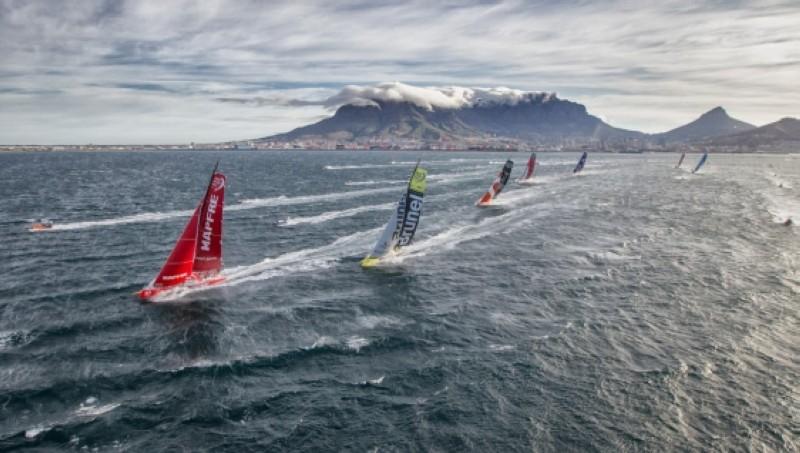La llegada más igualada de la Volvo Ocean Race