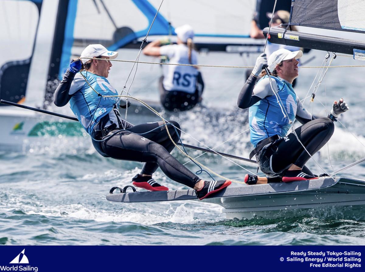 Tamara Echegoyen y Paula Barceló en la línea de salida del Mundial 2019