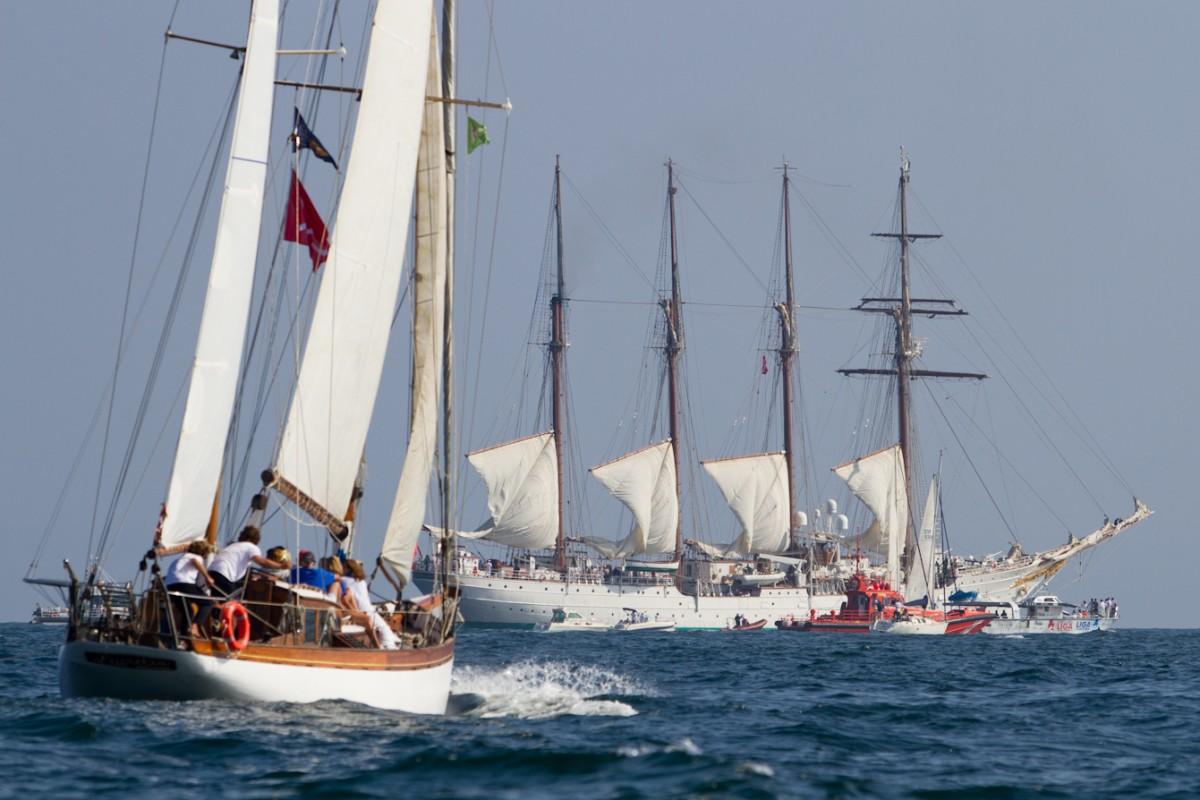 Tchin Tchin y  Ai ama ganan la Regata Costa Vasca-Horizonte Elcano