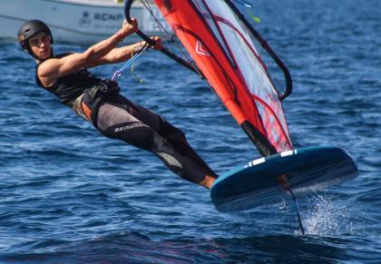 Biel Lladó gana el Campeonato de Baleares de IQ Foil