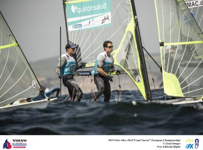 Dominio absoluto de Botín y López-Marra en el europeo de 49er