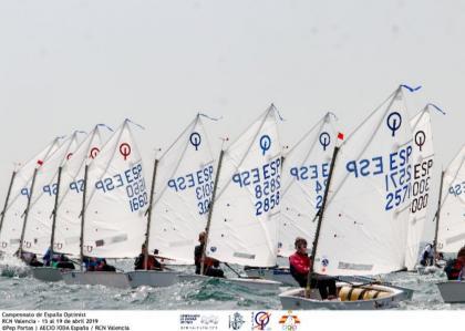 Arranque oficial del campeonato de España Optimist 2020