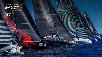 Lucha por el control de las 52 SUPER SERIES Royal Cup Puerto Sherry