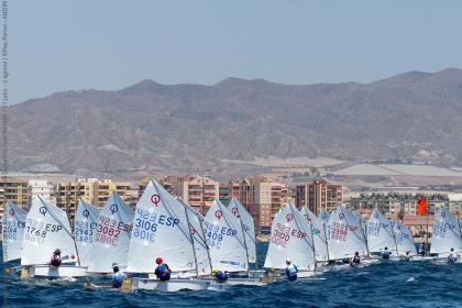 Se cierra la primera jornada del Campeonato de España de Optimist 2020