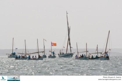Una parada naval despide la XXIII Diada de Vela Latina de Mallorca