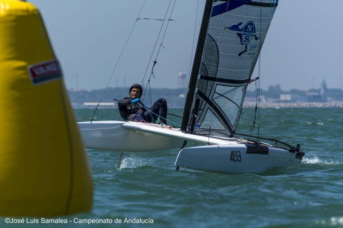Victoria de Juan Luis Páez en el campeonato de Andalucía de Catamarán