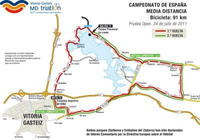 Campeonato de España de Triatlón media distancia de Vitoria