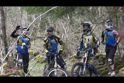 Bikezona en la presentación del Rose Vaujany Gravity Team