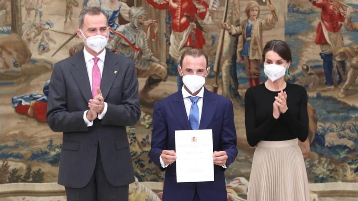 Alejandro Valverde galardonado en la entrega de los Premios Nacionales del Deporte