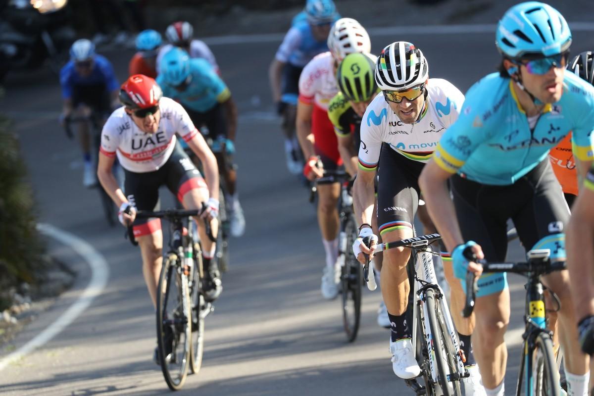 Alejandro Valverde vuelve a la competición subiendo al podio