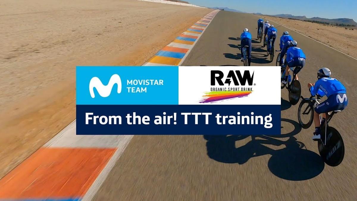 Así es la preparación física del Movistar Team con el apoyo de RAW Sport Drink