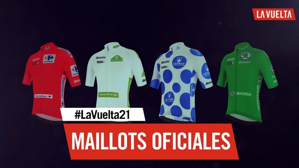 Maillots de líder La Vuelta 21