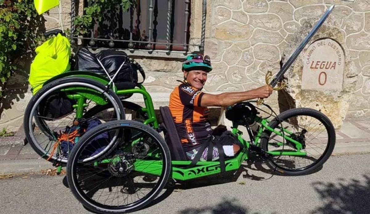 Así vivió el atleta paralímpico Iñaki Castañeda su paso por El Camino del Cid